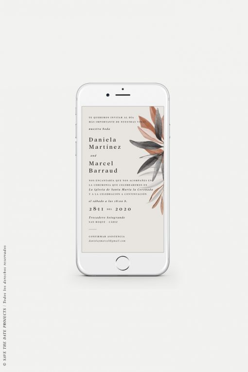 invitación de boda navideña digital