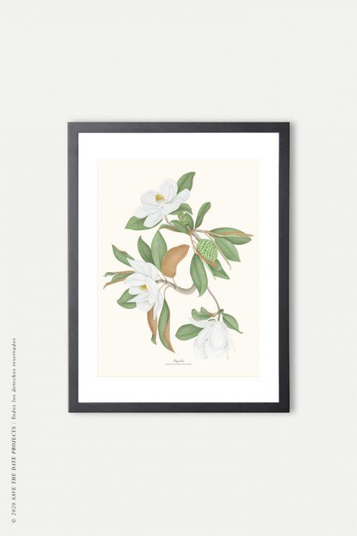 cuadro negro lámina magnolio