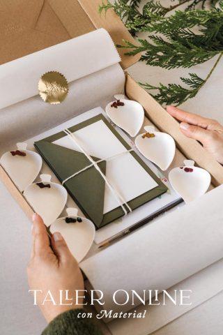 taller online acuarela navideño con material