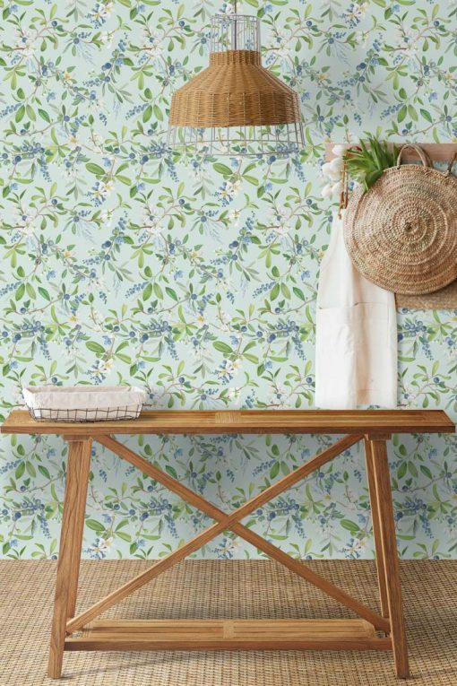 papel pintado vegetacion hall pasillo