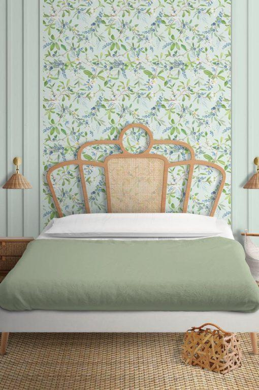 Papel pintado dormitorio campestre
