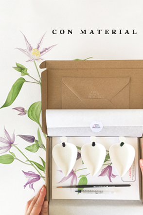 taller acuarela online flor CON material
