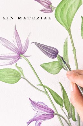 cursos online acuarela flores kata zapata