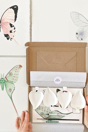 pack material acuarela mariposas
