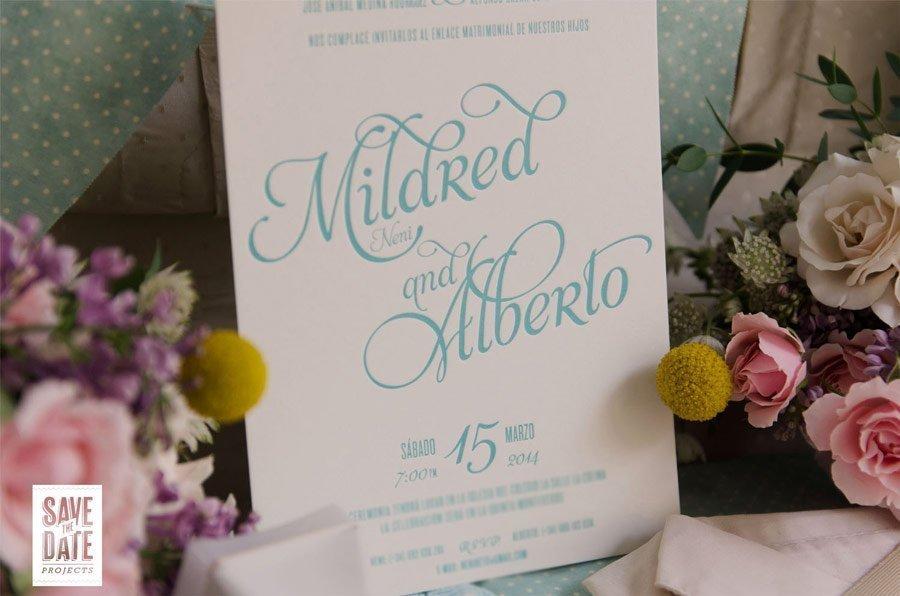 invitaciones de boda personalizada civil letterpress