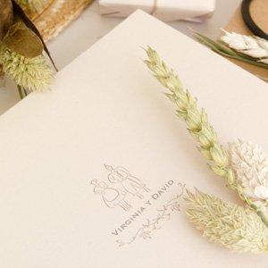 Invitaciones de boda campestre personalizadas rustica Save the Date Projects 2