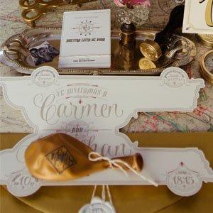 Invitaciones de boda originales en letterpress