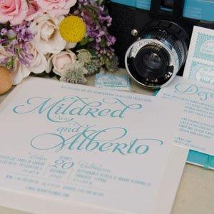 Invitaciones de boda personalizadas letterpress
