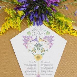 Minutas de boda personalizadas