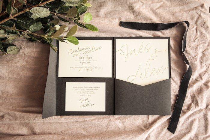 Invitaciones de boda doradas-Contacones by Romer Amado