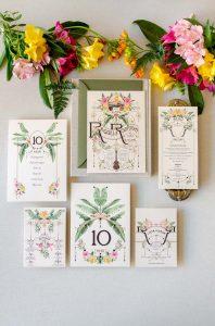 papeleria de boda hawai personalizada