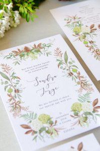 detalle invitacion boda anverso
