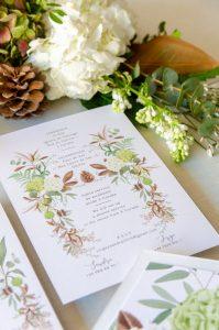 detalle invitacion de boda reverso