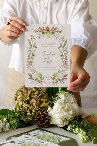 invitacion con flores