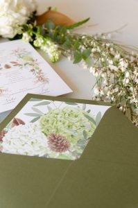 sobre verde oliva boda otono