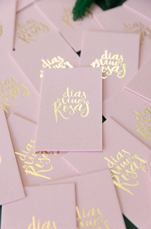 Acabado dorado tarjetas de visita foil letterpress